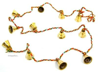"""""""brass Bells On String"""" Indian Hippy Belly Dancing (12 Small Bells)"""
