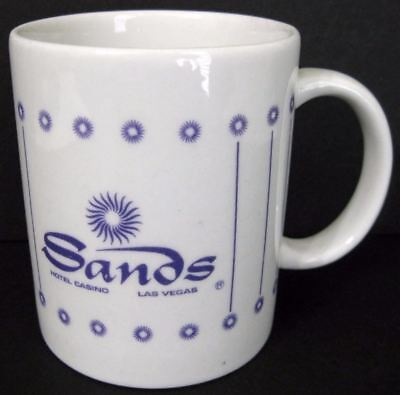 Sands Hotel Casino Las Vegas Coffee Cup Mug Ceramic Purple Graphics