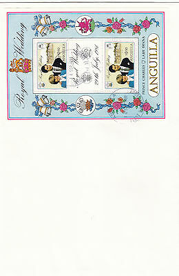 (70804B) Anguilla FDC Princess Diana Wddding 14 September 1981