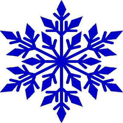 30 Custom Blue Winter Snowflake Personalized Address Labels