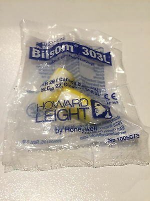 Howard Leight Bilsom 303L Disposable Foam Ear Plugs - 20 PAIRS - Large Fit