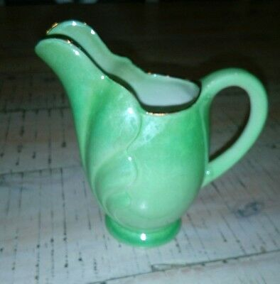 Porcelain green Mailing England green little milk jug - lusterware