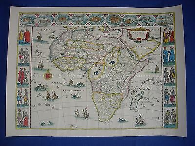 Reprint Of An Old Map Of Africa