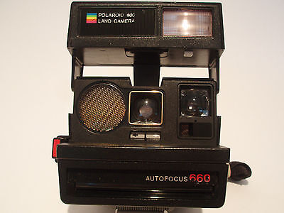 Vintage Polaroid 600 Land Camera / Autofocus 660 Instant Camera     / Made In Uk