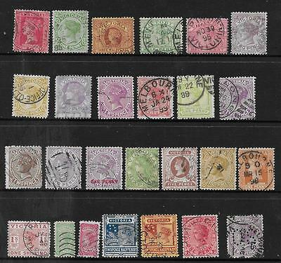 AUSTRALIA STAMPS = VICTORIA STATE = Selection of (26) = Fine Used - VALUE