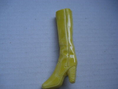 Vintage Yellow Boot Brooch