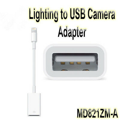 New 8-Pin Lightning to USB Camera Adapter for iPad iPhone Camera MD821ZM/A