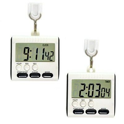 Large LCD Digital Timer Kitchen Cooking Count-Down Up Alarm Clock Magnetic E2U