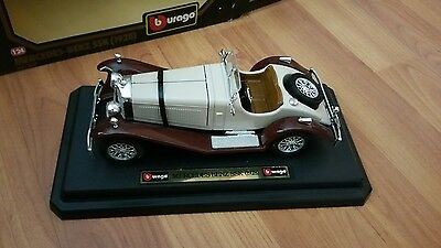 Burago 1928 mercedes benz ssk 1 24 scale boxed for Mercedes benz ssk 1928 burago