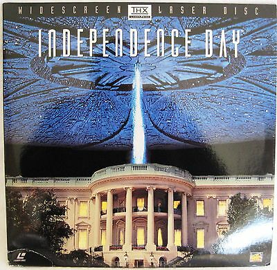LASERDISC Independence Day (THX) - Cover is creased, Discs are Good to VG