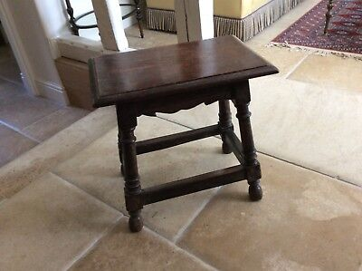 Antique Oak Jointed Stool