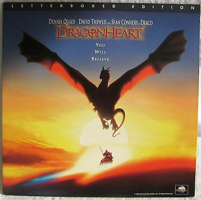 LASERDISC DragonHeart (THX) - Cover Good with light creases Discs Good to VG