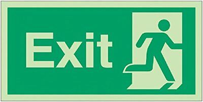 "Signs and Labels AMZFE024KRPH ""Exit Running Man Right"" Safe Condition Safety Glo"