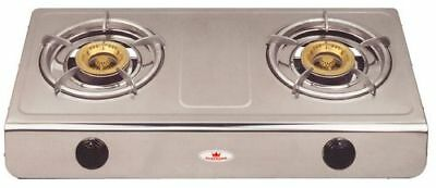 Deluxe Double Wok Burner Cooker Stove Top Natural Gas With Hose And Regulator