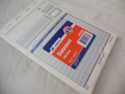 New ADAMS two part, carbonless statement paper forms 100 sets