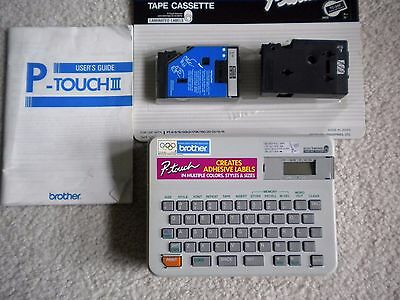 Brother P-Touch Iii Electronic Labeling System Model Pt-10 W Tape Cassettes