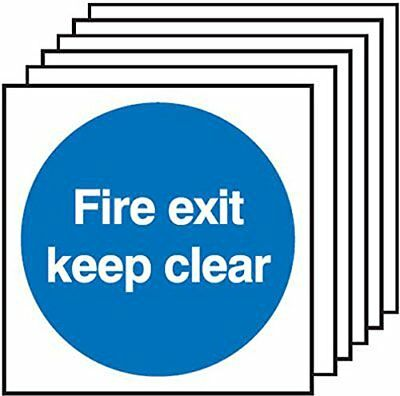 "Signs and Labels AMZ6PFX05108S ""Fire Exit Keep Clear"" Safe Condition Safety Self"