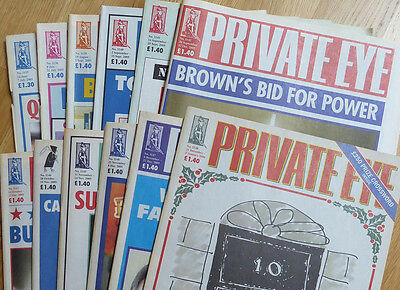 Private Eye - 12 back-issues - no. 1135-1136 and 1139-1148 - June-December 2005