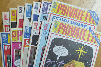 Private Eye - 13 back-issues - no. 1162-1174 - July-December 2006