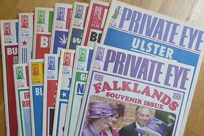 Private Eye - 13 back-issues - no. 1175-1187 - January-July 2007