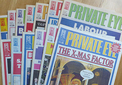 Private Eye - 13 back-issues - no. 1188-1200 - July-December 2007