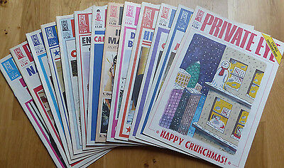 Private Eye - 13 back-issues - no. 1214-1226 - July-December 2008