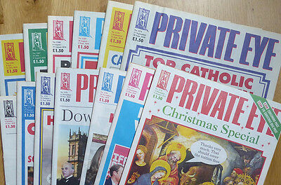 Private Eye - 13 back-issues - no. 1266-1278 - July-December 2010