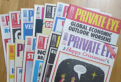 Private Eye - 13 back-issues - no. 1292-1304 - July-December 2011