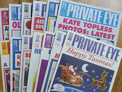 Private Eye - 13 back-issues - no. 1318-1330 - July-December 2012