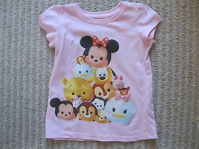 Toddler Girl's Disney Tsum Tsum T-shirt-Size:  3T-Pink