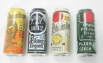 Pilsner Urquell Beer Cans.Limited edition.Set of 4. 2017/2. USA. 0.5 liter.Empty