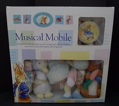 Beatrix Potter Peter Rabbit Baby Musical Crib Mobile Luv n' care New In Box