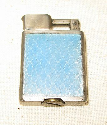 Ladies Silver Guilloche Cigarette Lighter.