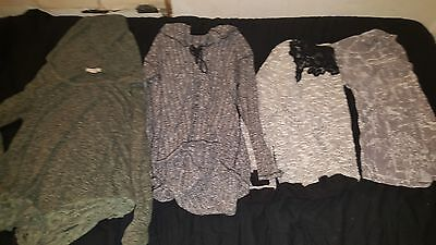 4 womans large tops lot