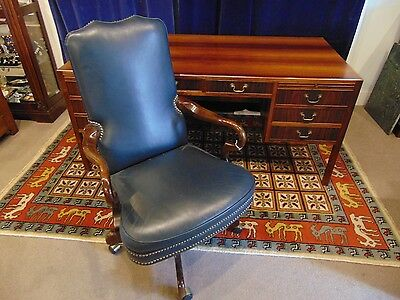 Old Hickory Tannery Leather Executive Desk Chair