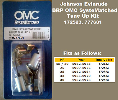 BRP Johnson Evinrude Tune Up Kit 9.9 15 35 40 40C HP See Chart 172806 See Chart