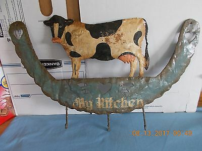 Collectible My Kitchen Metal Cow Sign