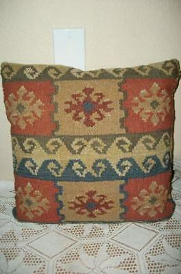 Chic Ethnic Vintage Kilim Pillow Traditional Colors Patterns Shabby