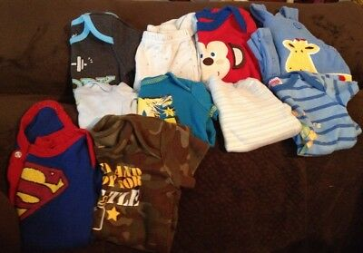10 Piece Lot Of Baby Boy Clothes Sizes NB And 0-3 Months *EUC*