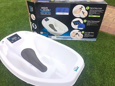 RRP £60 Aqua Scale Baby Bath  Digital Bath Scales And Thermometer