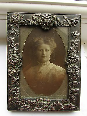Victorian pewter photo frame