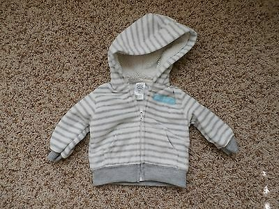 """Boys Just One You Made by Carter's """"Daddy's Little Guy""""  Fleece Coat Size NB"""