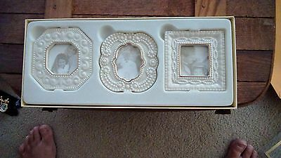 Classic Lenox Beaded Picture Frames Set of 3