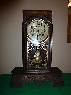 Victorian New Haven 8 day Mantle Clock