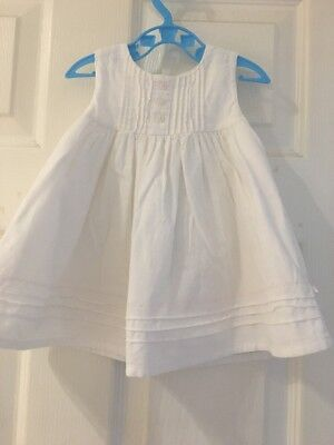 Baby Girl Dress 0-3 Months White Mothercare