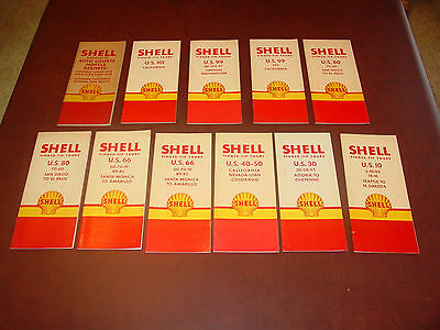 Vintage Shell Finger Tip Tours and Auto Courts Hotels Resorts (all dated 1949)