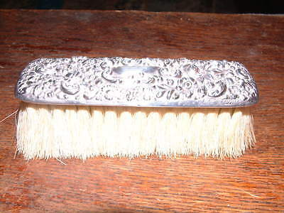 ANTIQUE J C PLIMPTON & Co STERLING SILVER HANDLED CLOTHES BRUSH CHESTER 1889