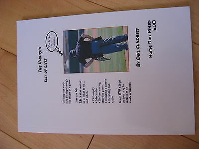 (Baseball Book MLB) The Umpire's List of Lists by Carl Childress