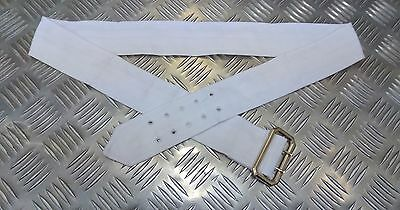 Genuine British No3 / No1 ARMY / NAVY / RAF Dress / Bush Jacket Cloth Belt White