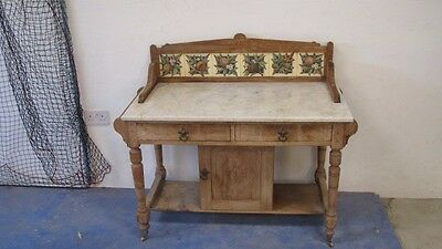 Marble Top Washstand - perfect for up-cycling or sink